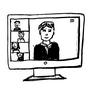 Onlinebeteiligung Gespräch am Bildschirm